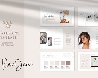 RosaJane PowerPoint Presentation Template . Brand Guidelines . Project Proposal