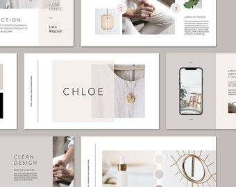 Chloe PowerPoint Presentation Template . Brand Guidelines . Project Proposal