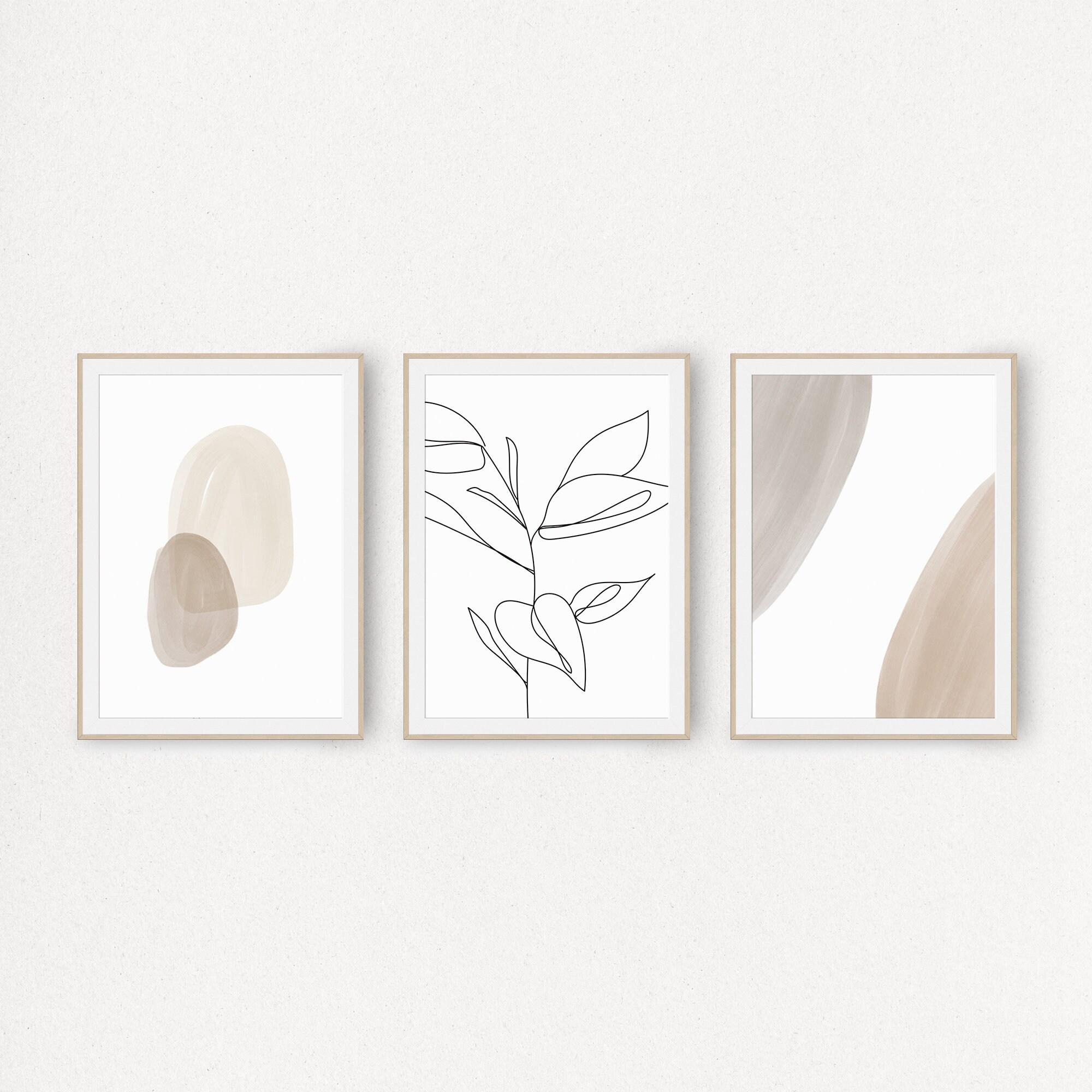 Printable wall art tropical artworks Set of 3 Art prints SQUARE Sweet Cyrene Instant Download