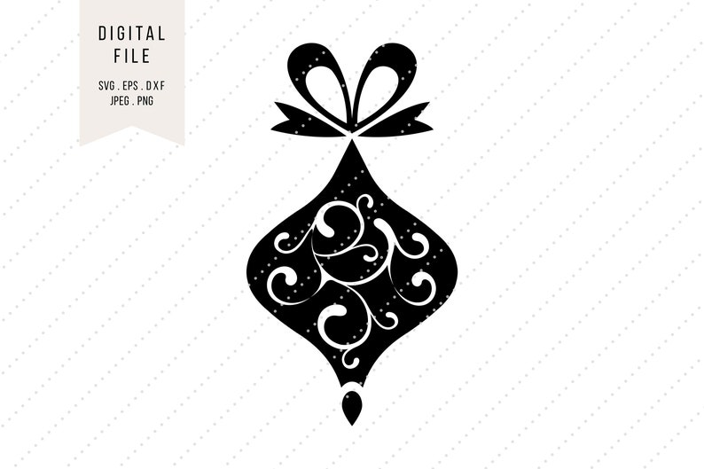 eps png jpeg dxf SVG Christmas Ball Clipart with Ornaments * Holidays * Instant Digital Download * svg