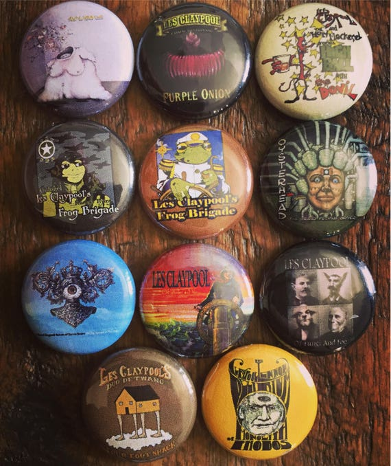 Les claypool buttons etsy