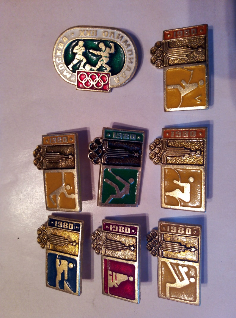 Vintage military insignia of the USSR Army retro awards Vintage badges ultra rare sports badges