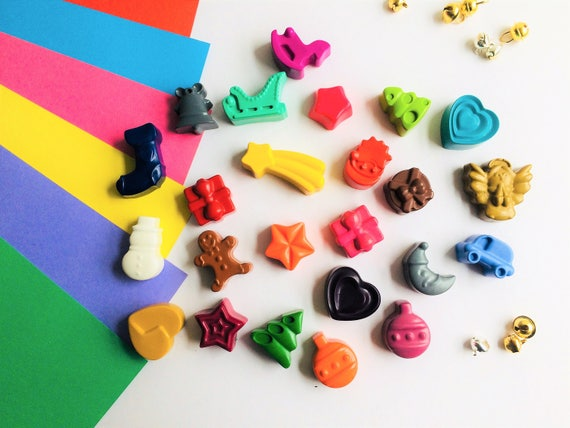 24 Christmas Crayons Kids Toddler Advent Calendar Fillers Etsy