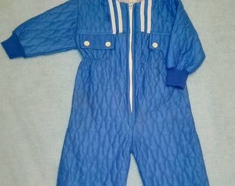 Original piece! Vintage overalls for baby boy Made in Russia Size 6-9 months