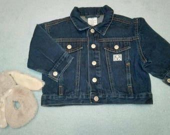 Vintage style oldschool denim jacket for baby boy Size 68cm