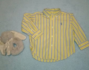 Vintage Ralph Lauren Polo shirt for stylish baby boy Material cotton Size 12 months