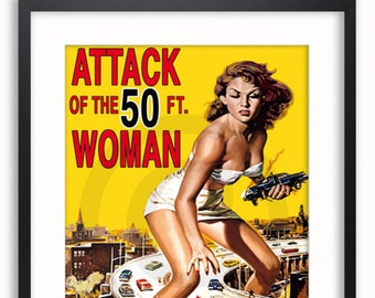 Attack of the 50ft Woman Cops Yellow Sock Monkey Sock Monkey Long Sock Monkey Woman Woman Tall Woman