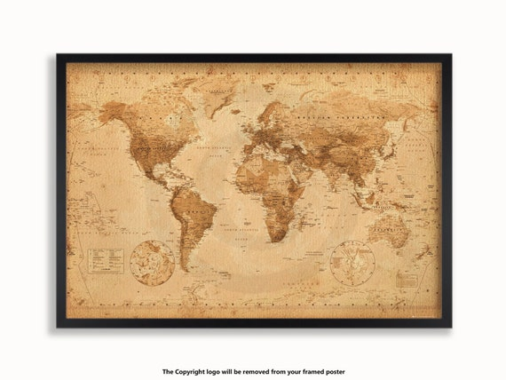 Antique Vintage Style Modern World Map Poster on modern china map poster, modern world map decal, modern germany poster, modern space map poster, modern world map print, modern travel poster, modern wall art, modern world map design, modern world map canvas, modern art poster,
