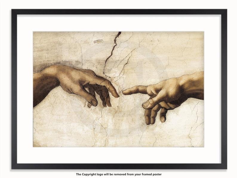 Leonardo Da Vinci  The Creation Of Adam Poster image 0