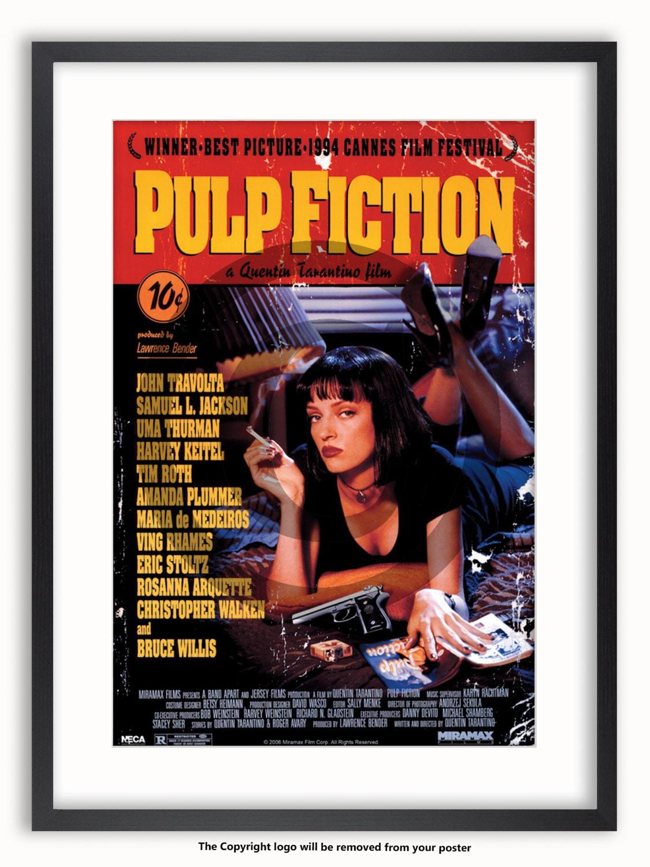 Pulp Fiction Film Promo Poster