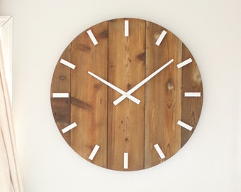 Large wall clock - Mid century modern - Boho decor - Neutral style - Unique gift idea - Minimalist wall hanging - SYDNEY in Natural