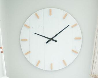 30 in wall clock - Modern clock - Large wall clock - Mid century modern - Boho decor - Bohemian decor - Modern wall clock - Wall clock