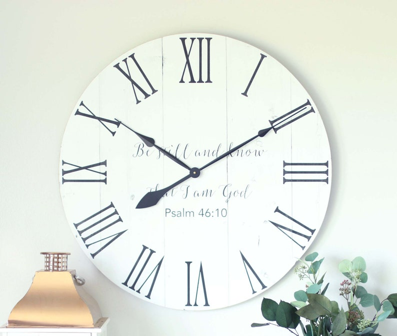Large Wall Clock Be Still And Know That I Am God Scripture