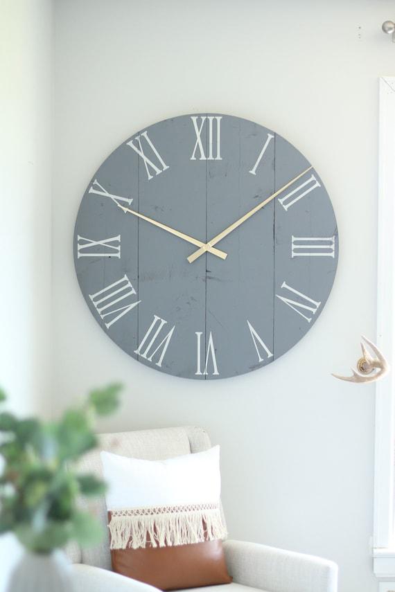 36 slate grey Large wall clock Large wall art | Etsy