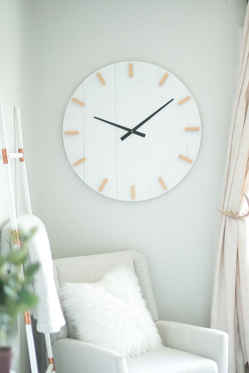 30 in wall clock Modern clock Large wall clock Mid | Etsy
