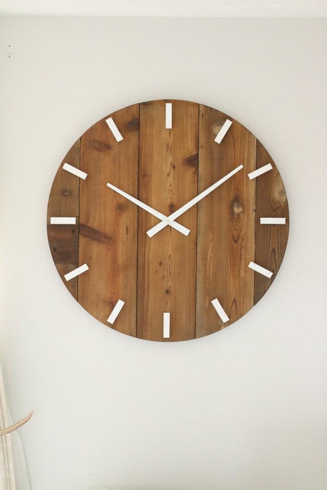 30 Wooden Wall Clock Modern Wall Clock Modern Home Etsy