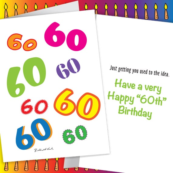 Get Used To 60 Birthday Card Any Age Available