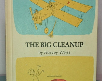 "Vintage Children's Book ""The Big Cleanup"" by Harvey Weiss - Weekly Reader Children's Book Club (1967)  Stocking Stuffer. Junk Journals"