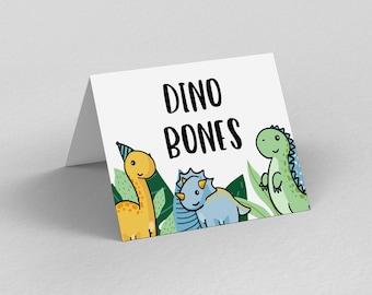 Tropical Dinomite Place Cards, Dinosaur Cards, Boys Dino tent cards, Dinosaur Birthday Party, Cake Table Backrop,Stegosaurus, Food Tent Card
