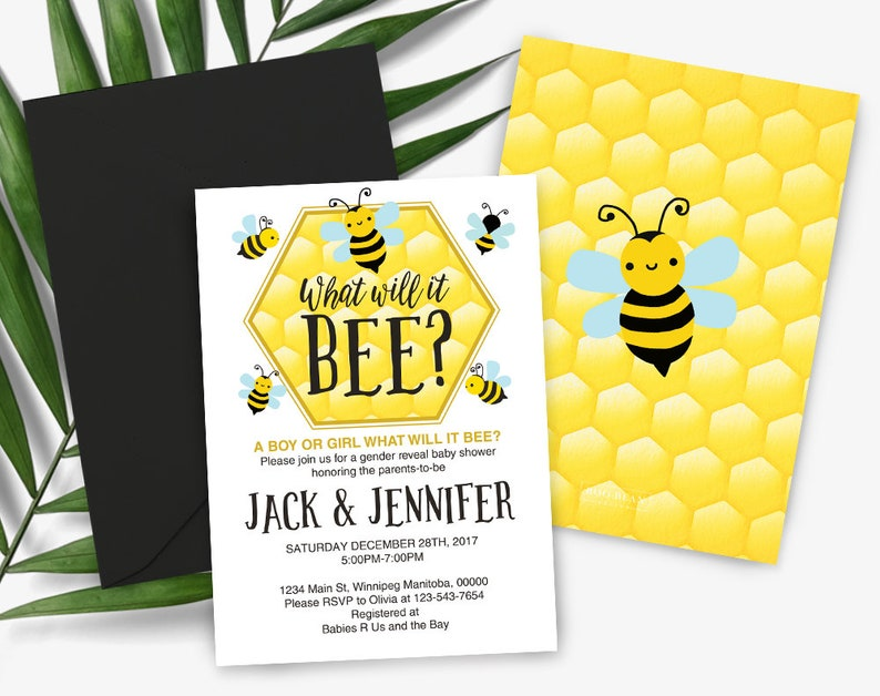 What Will It Bee Bee Baby Shower Bee Gender Reveal Jack And Etsy