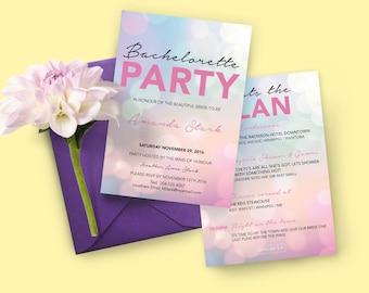 Pink Bachelorette Invitation, Printable Invitation, Bachelorette Invitation | Bachelorette Party | Digital Invitation