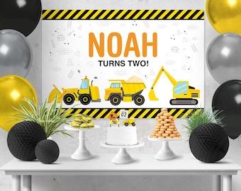 Construction Backdrop Design, Construction Sign, Construction Poster, Construction Birthday Party, Cake Table Backdrop, Construction Party
