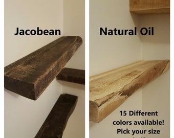 Customizable Colorful Painted Real Solid Wood Floating Shelf