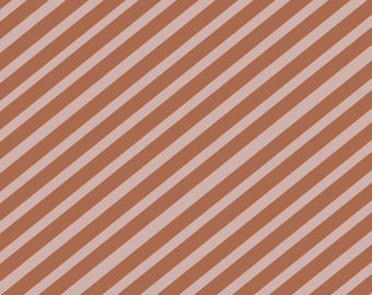 Gift wrapping paper, stripes, 3-sheet in pink-chocolate brown