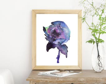 One dark peony - watercolor illustration art print