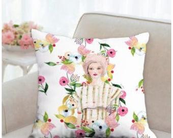 CG studio NYC fashion illustration - Throw Pillow case