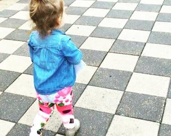 """baby + toddler leggings - """"Yellow Floral""""- 6m-3yr"""