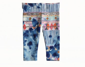 """Feeling the blues"" baby and toddler leggings"