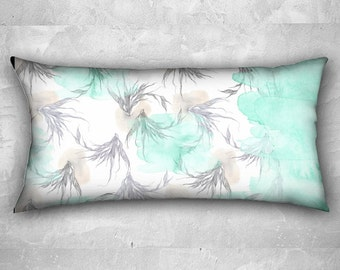 "Pillow case - ""lightness"" watercolor illustration on - long pillow case 24"" x 12"""