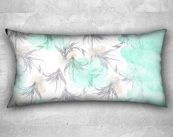 "Pillow case - ""lightness"" watercolor illustration on - long pillow case 24"" x 12"""