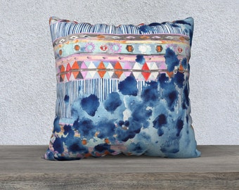 Feeling the Blues Kilim-   throw pillow case