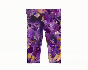 "baby + toddler leggings - ""exhale""- purple-6m-3yr"