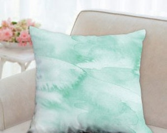 """Pillow case - """"lightness too!"""" watercolor illustration on- Throw pillow case 18"""" x 18"""" , 22"""" x 22"""""""