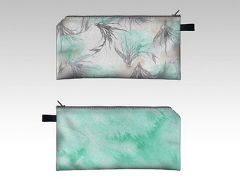 "pencil case-cosmetic bag-pouch -clutch-in ""lightness""- watercolor print"