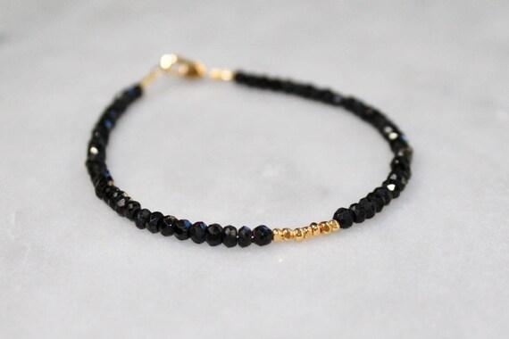 Spiritual Black Tourmaline Bracelet With Meaning Black Etsy