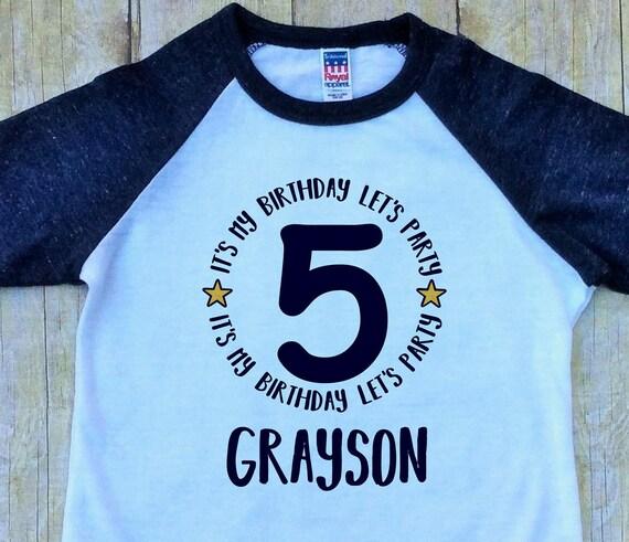 Boys Fifth Birthday Shirt Its My