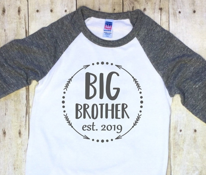 Gift for Big Brother 2019 Siblings Gift Toddler Jersey T-Shirt Tstars
