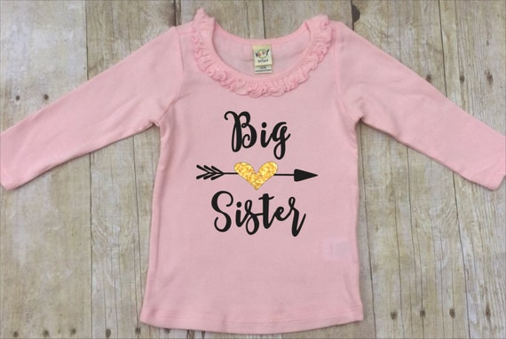 Big Sister Shirt Big Sister Announcement Shirt Pregnancy Etsy