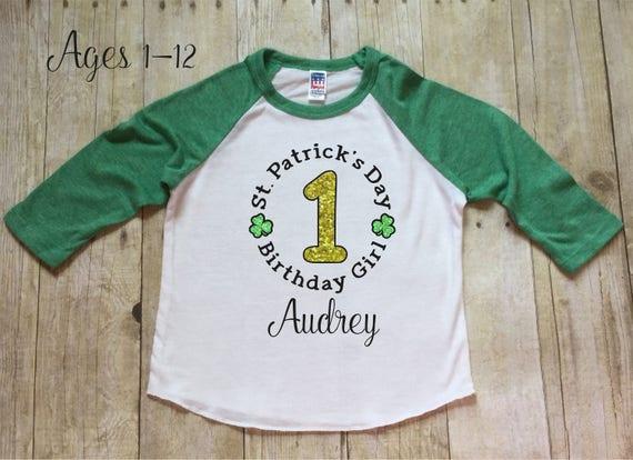 Girls St Patricks Day Birthday Shirt St Patricks Day
