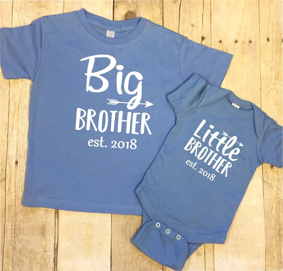big brother little brother shirt set t shirt sibling shirt new etsy
