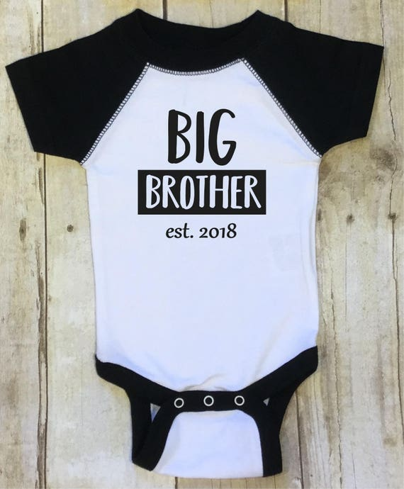 big brother est 2018 big brother shirt pregnancy reveal new etsy