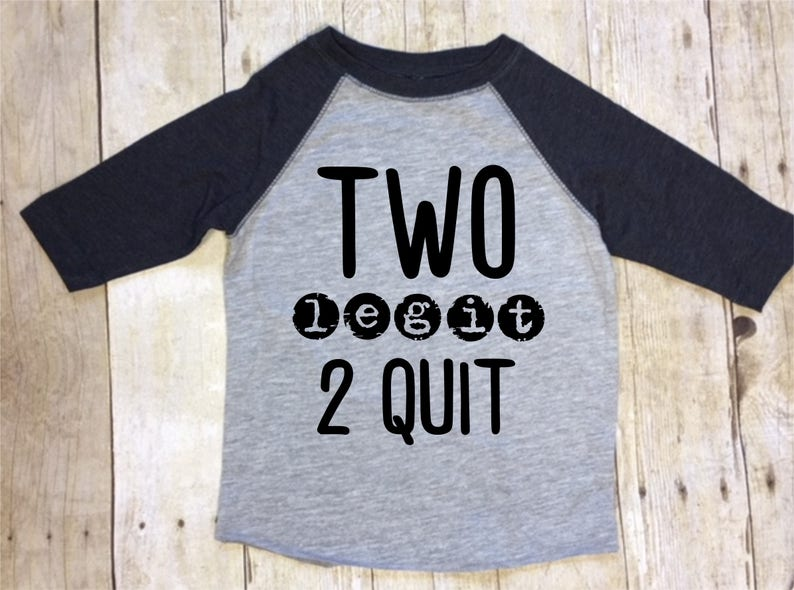 2nd Birthday Shirt Boys Two Legit To Quit