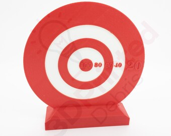 5 inch Target with Stand for foam darts, rubber bands, airsoft, and more!