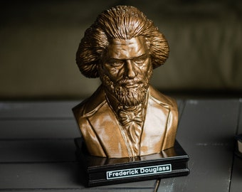 Frederick Douglass 8 inch Premium Solid Bust | Sculpture Art | Activist Gift  | Library | Study | Classroom | Faces of History