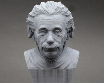Albert Einstein Famous German Physicist and Mathematician 5 inch 3D Printed Bust