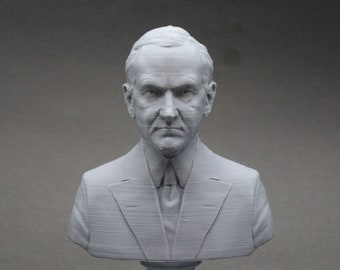Calvin Coolidge USA President #30 5 inch 3D Printed Bust